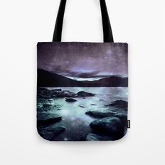 Magical Mountain Lake Aqua Lavender Tote Bag