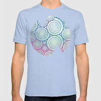 A Plethora of Curls Mens Fitted Tee Tri-Blue SMALL