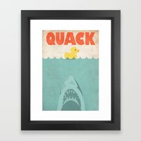 Jaws Rubber Duck Framed Art Print