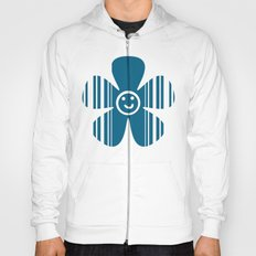 Egyptian Blue and white stripes Hoody