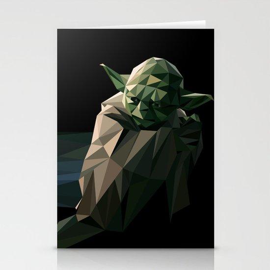 Geometric Yoda Stationery Card