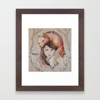 Safe In My Red Riding Ho… Framed Art Print