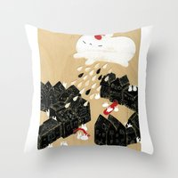 Rain Of Terror Throw Pillow