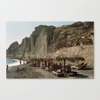 Eros Beach, Santorini Canvas Print
