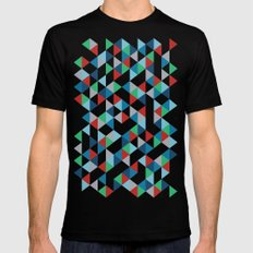 Triangles #3 Black Mens Fitted Tee SMALL