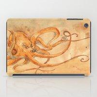 Octopus Drinking Tea iPad Case