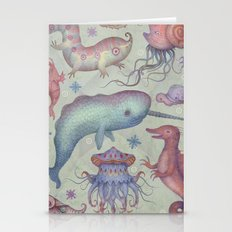 Creatures of the Deep Violet Sea Stationery Cards