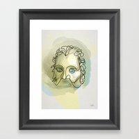 One Line Excalibur: Mord… Framed Art Print