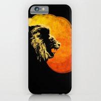 NIGHT PREDATOR : lion silhouette illustration print iPhone 6 Slim Case