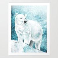 The White Bear Art Print