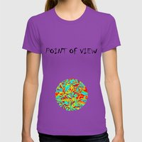 Aviv Womens Fitted Tee Ultraviolet SMALL