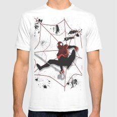 Ultimate Spider-man Miles Morales Mens Fitted Tee SMALL White