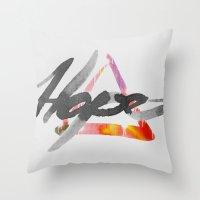 #hope Throw Pillow