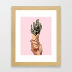 Sweet cactus Framed Art Print