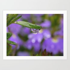 Smiling Drop in Purple Art Print