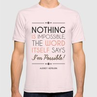 I'm Possible! Mens Fitted Tee Light Pink SMALL