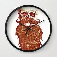 Beard Skull 2 Wall Clock