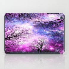 Black Trees Purple Fuchsia Blue Space iPad Case
