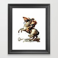 Napoleon Crossing The Al… Framed Art Print