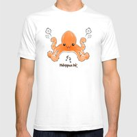 Hexapus Ink :3 Mens Fitted Tee White SMALL