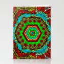 Crazy pattern machine Stationery Cards