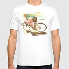 The Sprinter, Cycling Edition Mens Fitted Tee SMALL White
