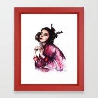 Geisha Girl // Fashion I… Framed Art Print