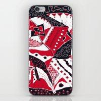 TRICHROMATIC DELIRIUM RED BLACK WHITE iPhone & iPod Skin