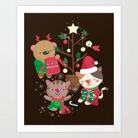 Holiday Crew Art Print