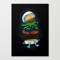 The Astronaut Burger Canvas Print