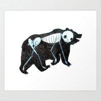 Spirit Animal Bear Art Print