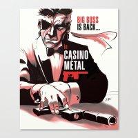 METAL GEAR: Casino Metal Canvas Print