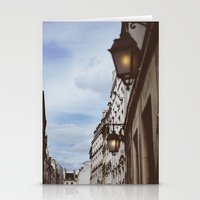 Lanterns & Streets Of Pa… Stationery Cards