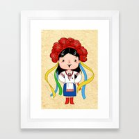 A Ukrainian Girl Framed Art Print