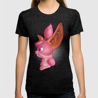 Chua Bust Womens Fitted Tee Tri-Black SMALL