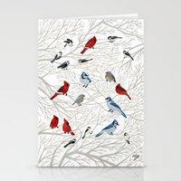 Winter Birds Stationery Cards