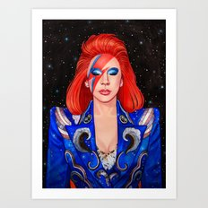 Space Princess Art Print