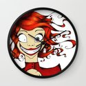 Little Mad Alice Wall Clock
