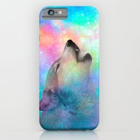 iPhone Cases featuring Breathing Dreams Like Air (Wolf Howl Abstract) by soaring anchor designs