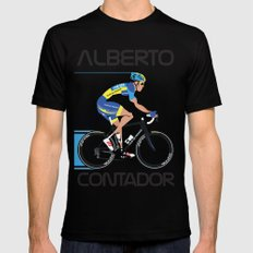 Alberto Contador SMALL Mens Fitted Tee Black