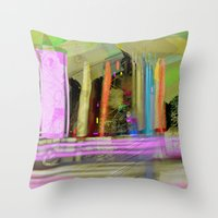 Color Spikes Throw Pillow