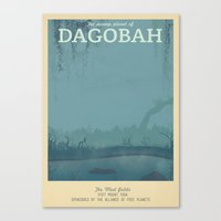Retro Travel Poster Series - Star Wars - Dagobah Canvas Print