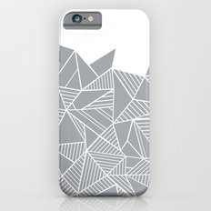 Abstract Mountain Grey on White Slim Case iPhone 6s