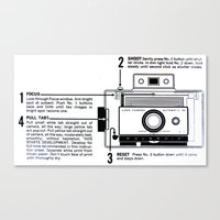 Polaroid Land Camera  Canvas Print