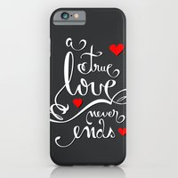 iPhone & iPod Case featuring Valentine Love Calligraphy and Hearts V2 by Ruxique