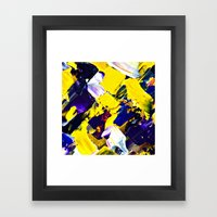 Yellow Intersections Framed Art Print