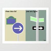 les directions Art Print
