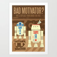 Droid repair shop Art Print