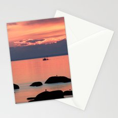 Silhouette Fishing Stationery Cards