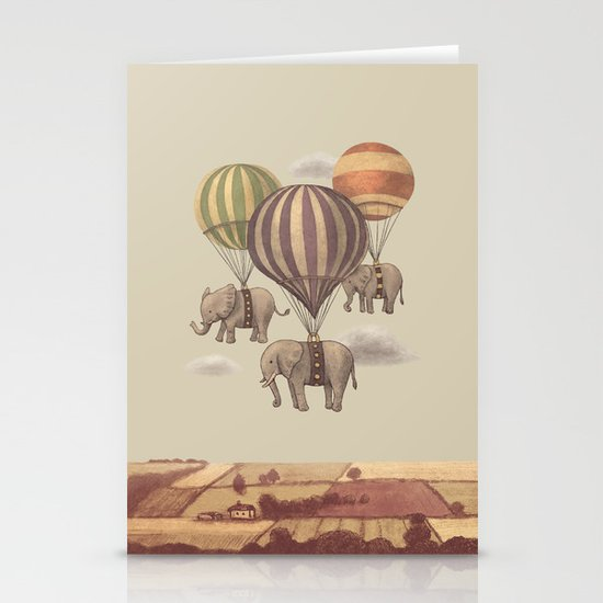 Flight of the Elephants  Stationery Card
